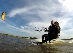 le kitesurf à deux